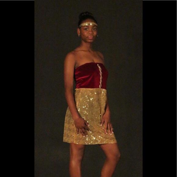 Anointed Fashions Designs Dresses Velvet Formal Dress For Teens
